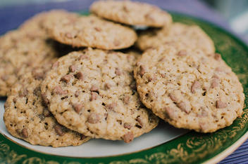 Galletas de avena y trocitos de chocolate